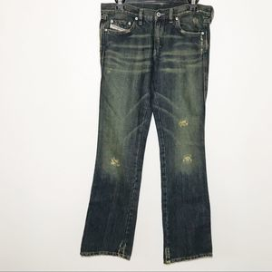 Diesel Distressed Flare Jeans Size 29